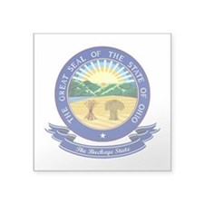 "Ohio Seal.png Square Sticker 3"" x 3"""