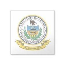 "Pennsylvania Seal.png Square Sticker 3"" x 3"""