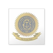"Rhode Island Seal.png Square Sticker 3"" x 3"""