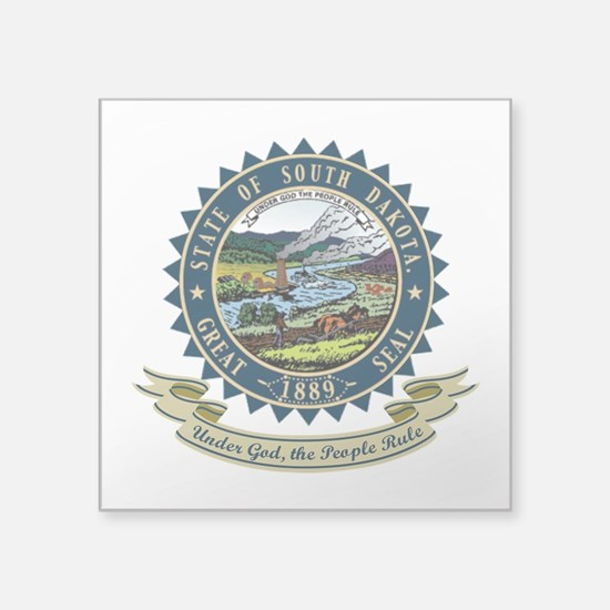 "South Dakota Seal.png Square Sticker 3"" x 3"""
