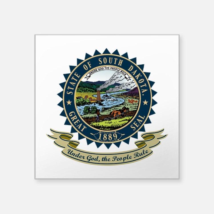 """South Dakota Seal.png Square Sticker 3"""" x 3"""""""