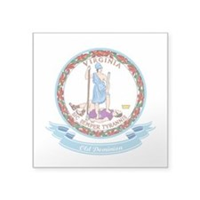"""Virginia Seal.png Square Sticker 3"""" x 3"""""""