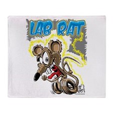 Lab Rat 03 Throw Blanket