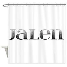 Jalen Carved Metal Shower Curtain