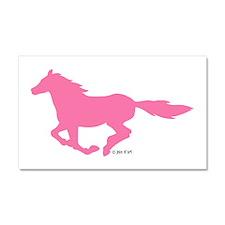 HORSE (Pink) Car Magnet 20 x 12