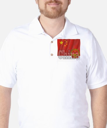 Silky Flag of China Golf Shirt