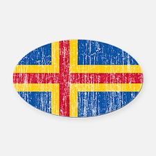 Aland Flag Oval Car Magnet