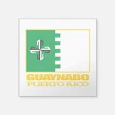 "Guaynabo Flag.png Square Sticker 3"" x 3"""