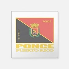 "Ponce Flag.png Square Sticker 3"" x 3"""