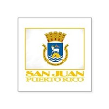 "San Juan Flag.png Square Sticker 3"" x 3"""