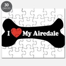 I Love My Airedale - Dog Bone Puzzle