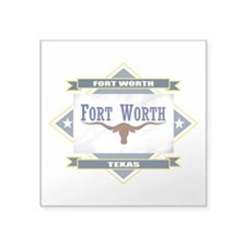 "Fort Worth diamond.png Square Sticker 3"" x 3"""