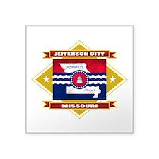 "Jefferson City diamond.png Square Sticker 3"" x 3"""
