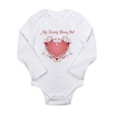 nanny heart and kisses loves me Body Suit