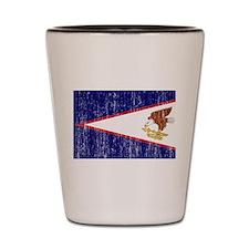 American Samoa Flag Shot Glass