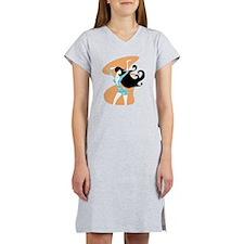 lady in print dress 1.png Women's Nightshirt