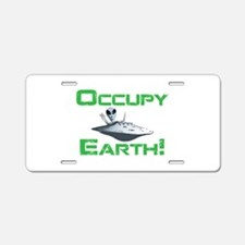 Occupy Earth! Aluminum License Plate