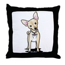 Heart Wings Chihuahua Throw Pillow
