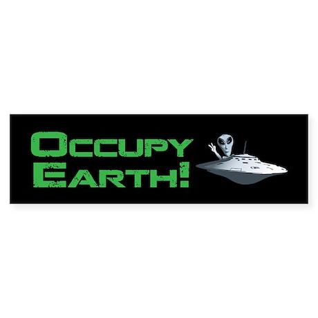 Occupy Earth! Sticker (Bumper)