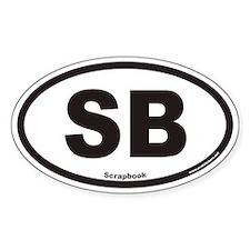 Scrapbooking SB Euro Oval Decal