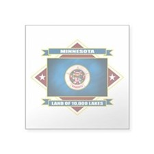 "Minnesota diamond.png Square Sticker 3"" x 3"""
