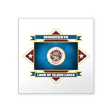 "Minnesota diamond.png Square Sticker 3"" x 3"""