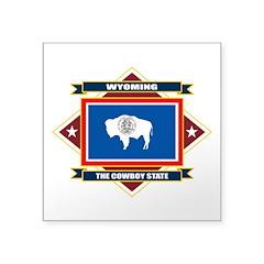 Wyoming Flag Square Sticker 3