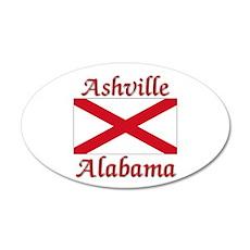 Ashville Alabama 20x12 Oval Wall Decal
