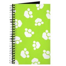 Paw Print Hearts Olive Journal