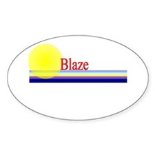 Blaze Oval Decal