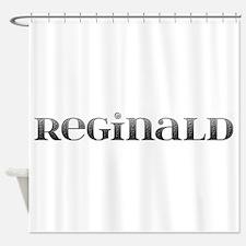 Reginald Carved Metal Shower Curtain
