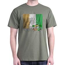Silky Flag of Cote d'Ivoire Black T-Shirt