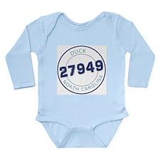 Duck Zip Code Long Sleeve Infant Bodysuit