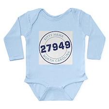 Kitty Hawk Zip Code Long Sleeve Infant Bodysuit