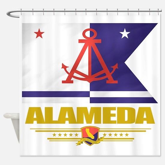Alameda (Flag 10).png Shower Curtain