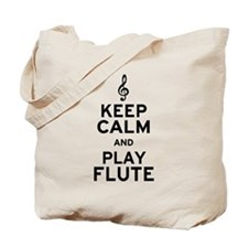 Keep Calm and Play Flute Tote Bag