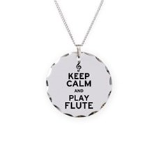 Keep Calm and Play Flute Necklace