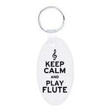 Keep Calm and Play Flute Keychains