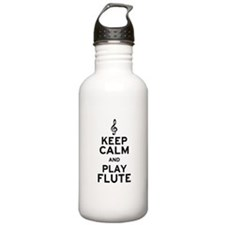 Keep Calm and Play Flute Water Bottle