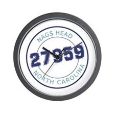 Nags Head Zip Code Wall Clock