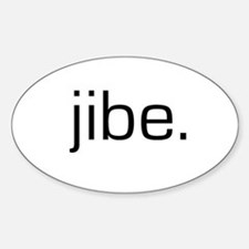 Jibe Oval Decal