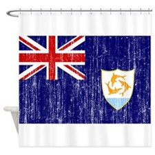 Anguilla Flag Shower Curtain