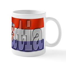 Silky Flag of Croatia Mug