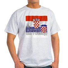 Silky Flag of Hrvatska Ash Grey T-Shirt