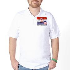 Silky Flag of Hrvatska T-Shirt