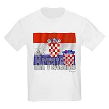 Silky Flag of Hrvatska Kids T-Shirt