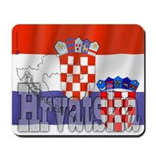 Silky Flag of Hrvatska Mousepad