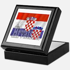 Silky Flag of Hrvatska Keepsake Box