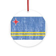 Aruba Flag Ornament (Round)
