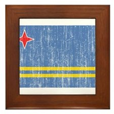 Aruba Flag Framed Tile